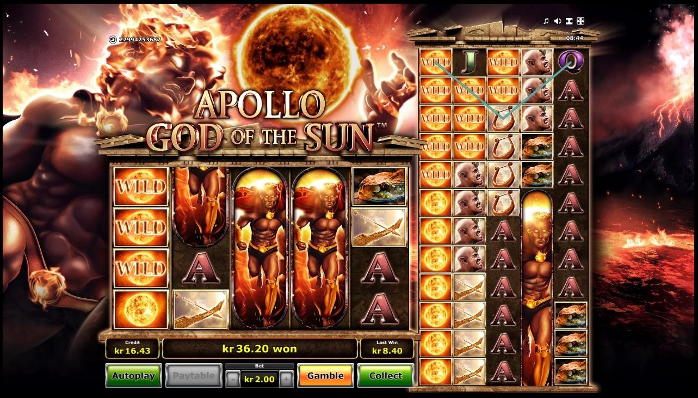 apollo god of the sun wild reel function