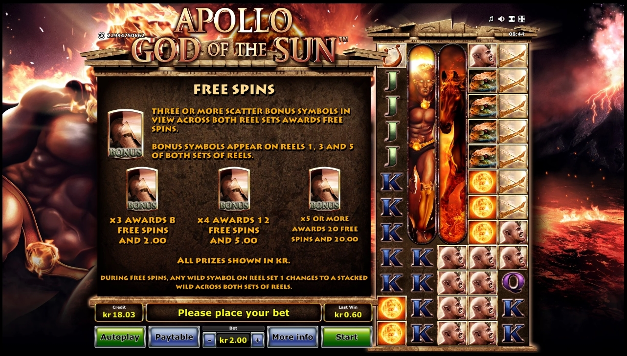 apollo god of the sun free spins