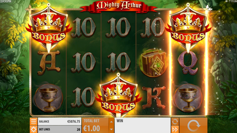 mighty arthur free spins
