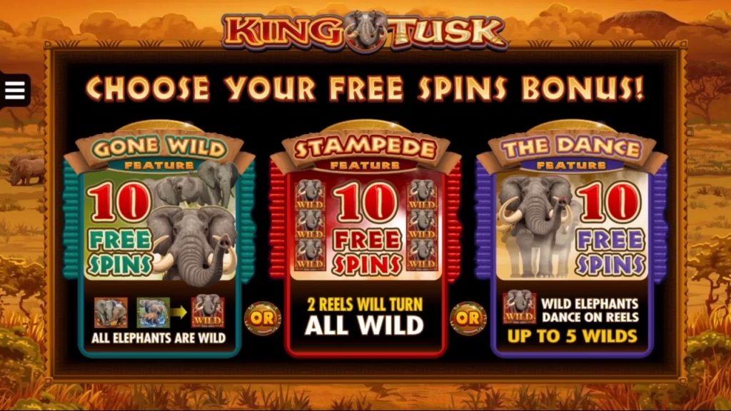 king tusk Free spins