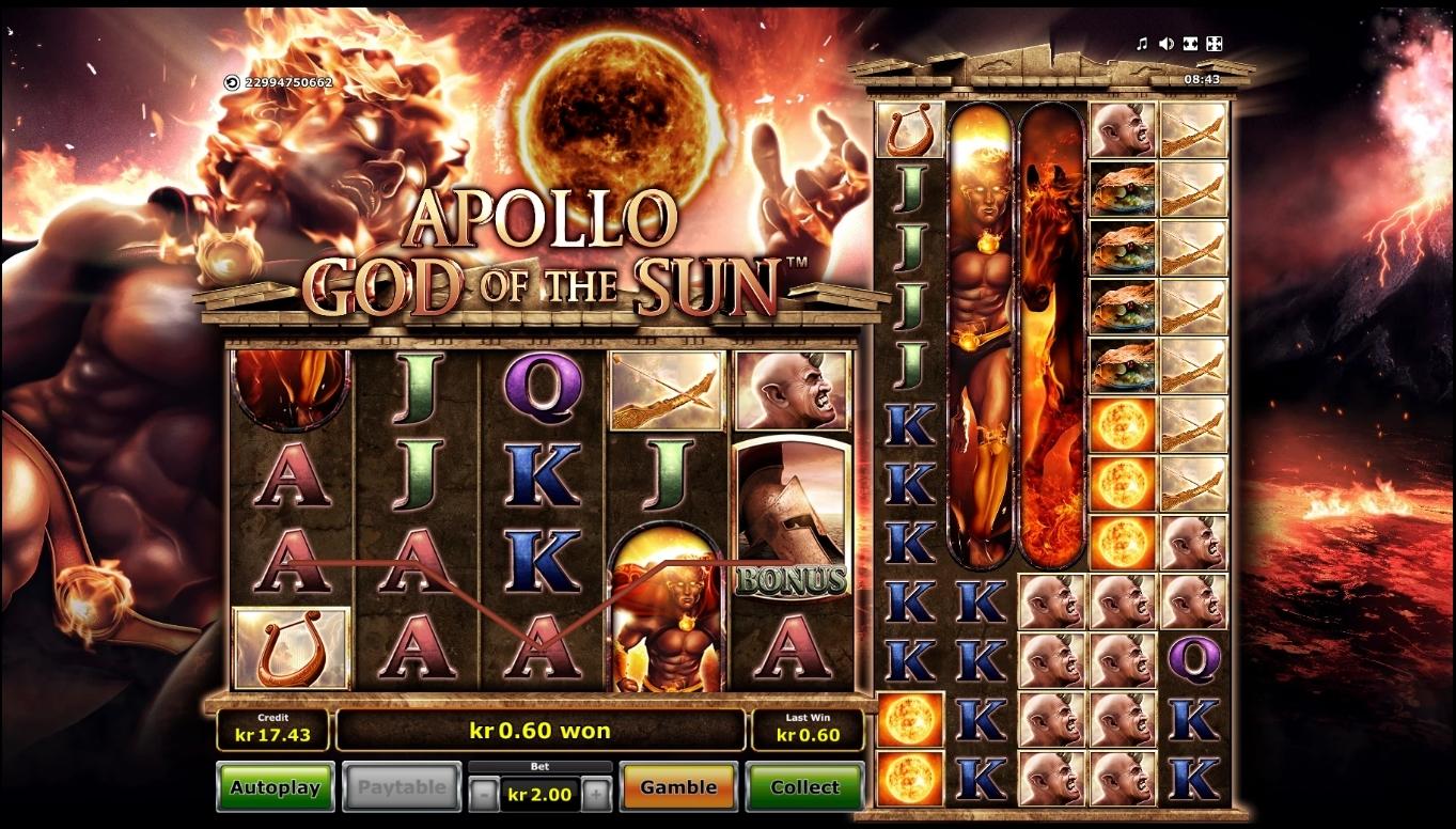 apollo god of the sun symboler