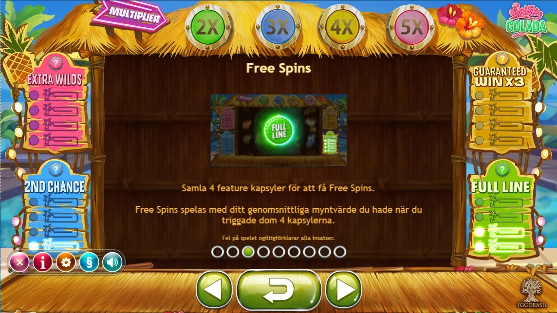 spina colada free spins