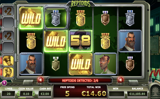 reptoids free spins feature