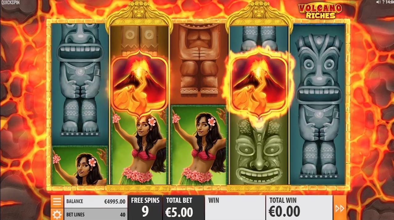 volcano riches bonus